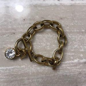 Michael Kors gold padlock bracelet